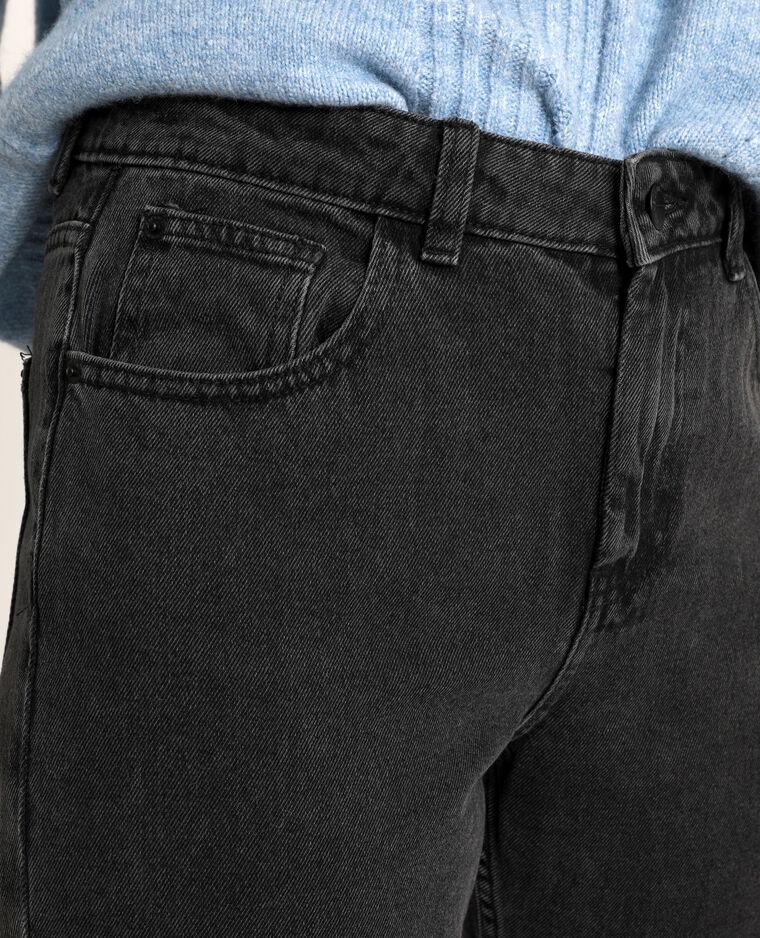 Jeans mom a vita alta nero