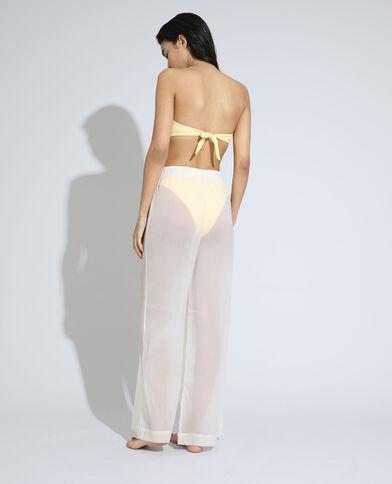 Pantalone trasparente da spiaggia wide leg high waist bianco - Pimkie