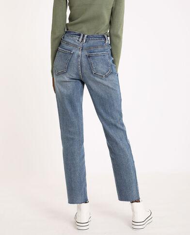 Jeans straight high waist blu denim