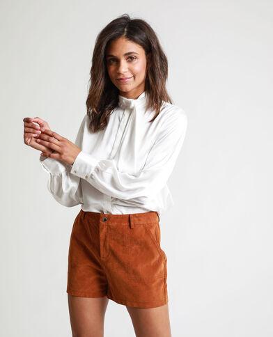 Camicia satinata bianco sporco