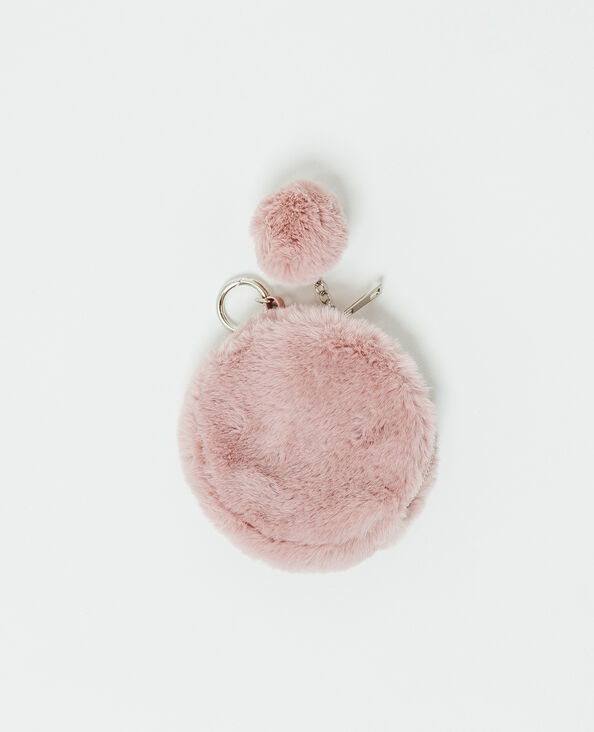 Portachiavi in pelliccia ecologica rosa