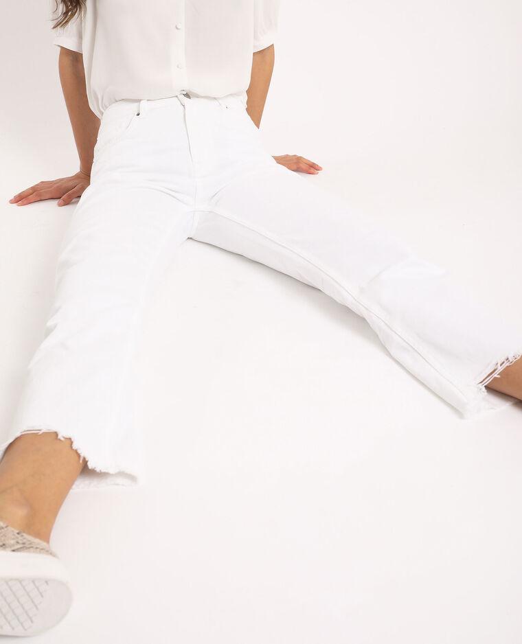 Jeans dritto high waist écru