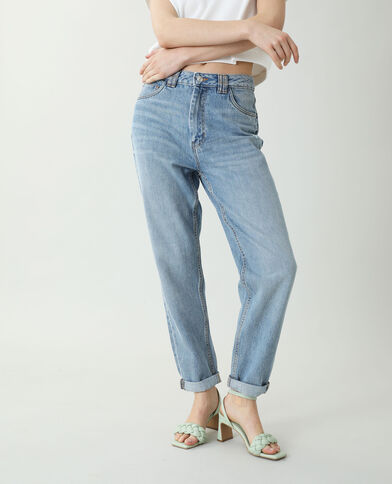 Jeans mom blu denim