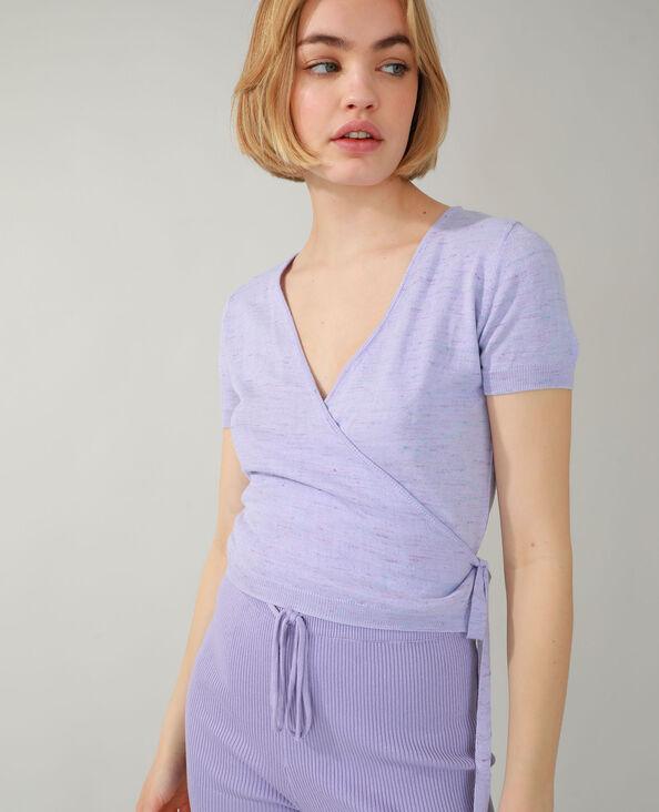 T-shirt cache-cœur rosa fucsia - Pimkie