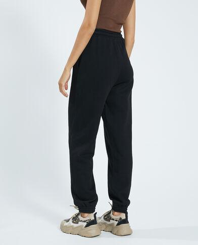 Pantalone in cotone felpato nero - Pimkie