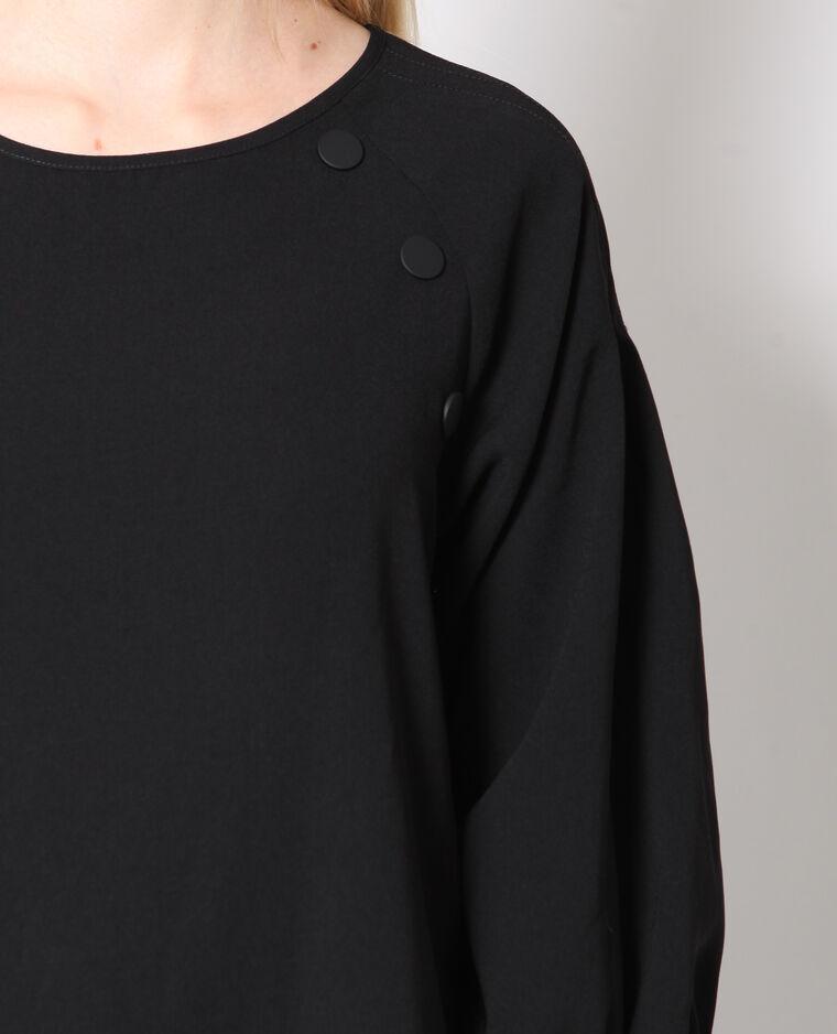 Blusa con maniche 3/4 nero