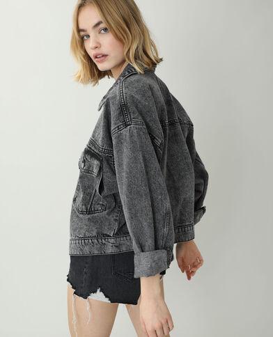 Giacca di jeans oversize nero
