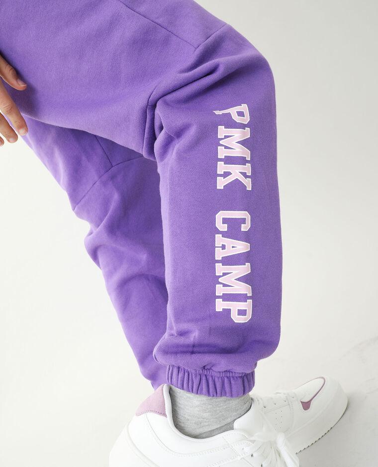 Pantalone da jogging in tessuto felpato viola - Pimkie