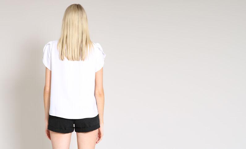 Blusa maniche corte bianco