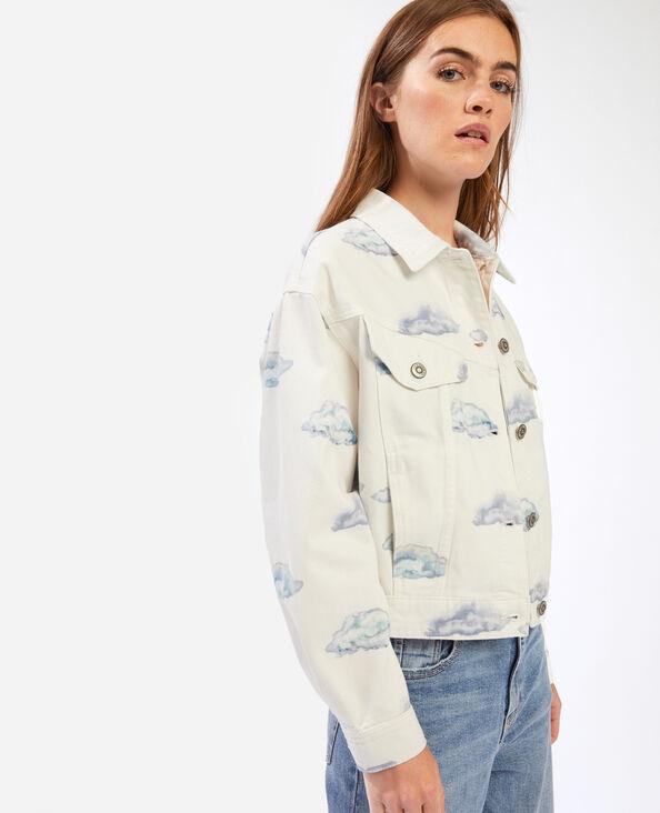 Giacca camicia di jeans nuvole bianco - Pimkie
