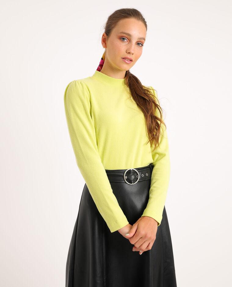 T-shirt con maniche a sbuffo giallo