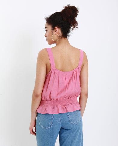 Top con spalline larghe rosa