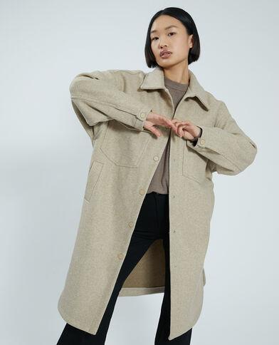 Maxi giacca camicia marrone - Pimkie