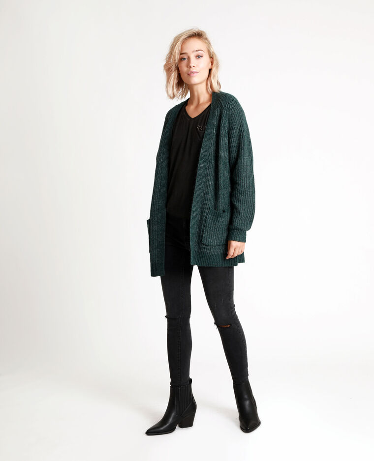 Cardigan di media lunghezza verde