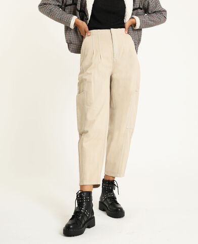 Pantalone slouchy écru