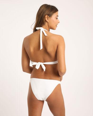 Pezzo sopra di bikini a triangolo bianco