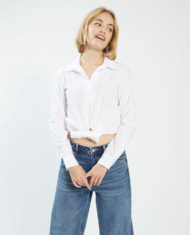 Camicia da annodare bianco - Pimkie