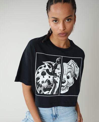 T-shirt cropped La carica dei 101 nero - Pimkie