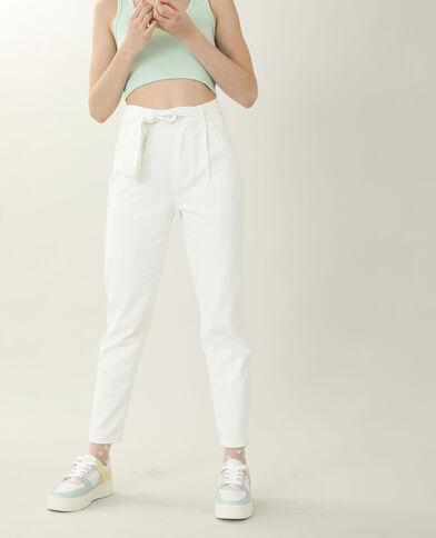 Jeans mom high waist écru