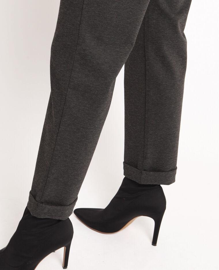Abito pantalone maniche corte grigio chiné