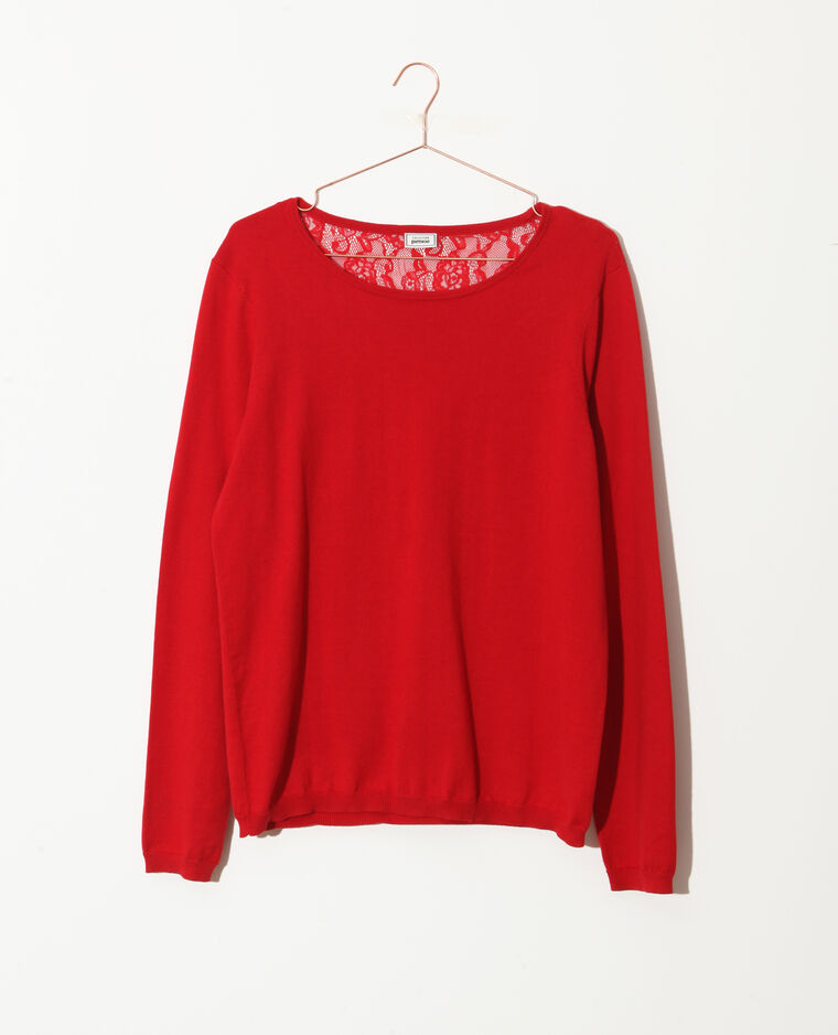Pull pizzo rosso
