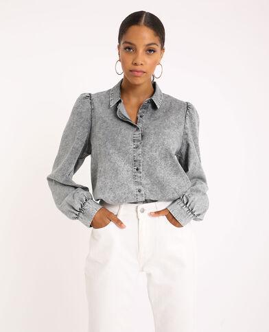 Camicia di jeans grigio