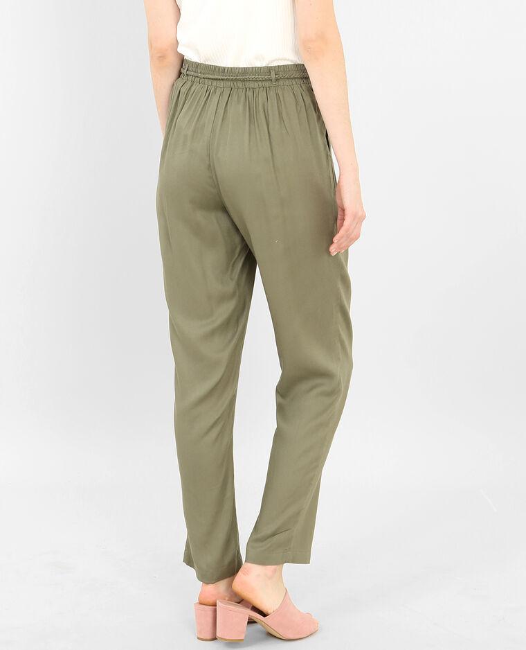 Pantalone morbido verde