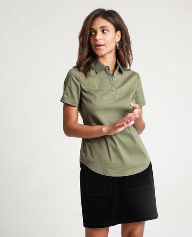 Camicia maniche corte verde