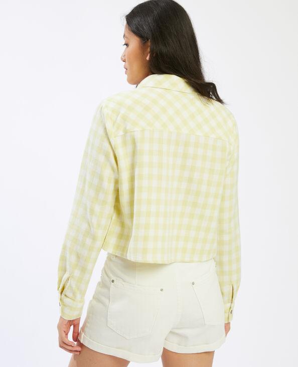 Camicia cropped a quadri verde - Pimkie