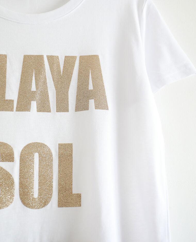 T-shirt stampata écru - Pimkie