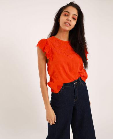Blusa ricamata arancio