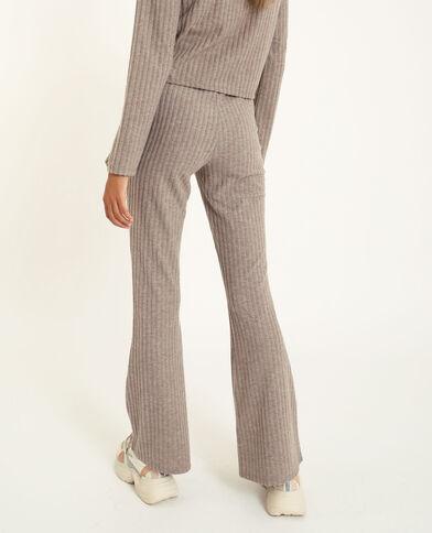 Pantalone svasato grigio perla