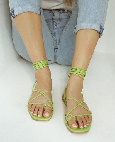 Sandali con lacci verde