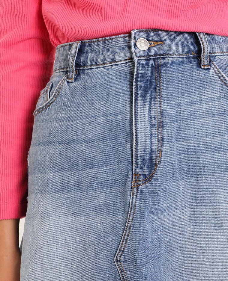 Gonna di jeans blu delavato