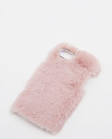 Custodia in pelliccia ecologica pelliccia rosa