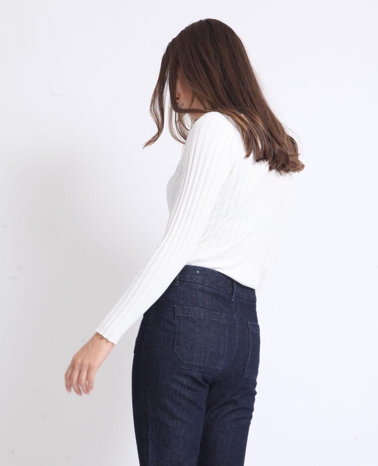 Polo maniche lunghe bianco