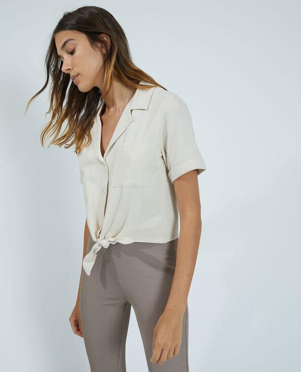 Camicia cropped écru - Pimkie