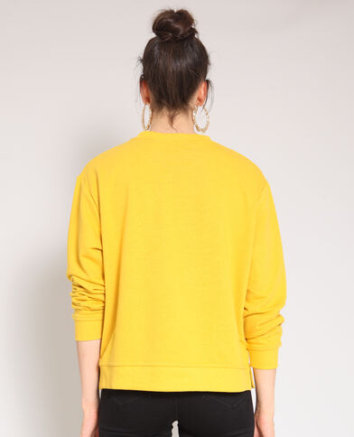 Felpa basic giallo