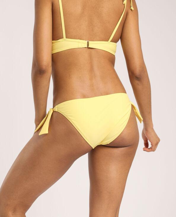 Pezzo sotto del bikini con fiocco giallo
