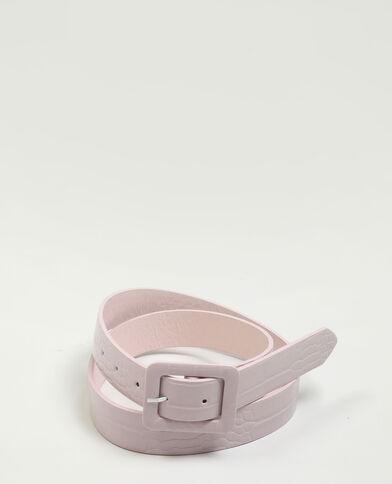 Cintura in similpelle effetto rettile rosa cipria - Pimkie