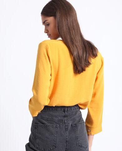 Camicia con bottoni giallo