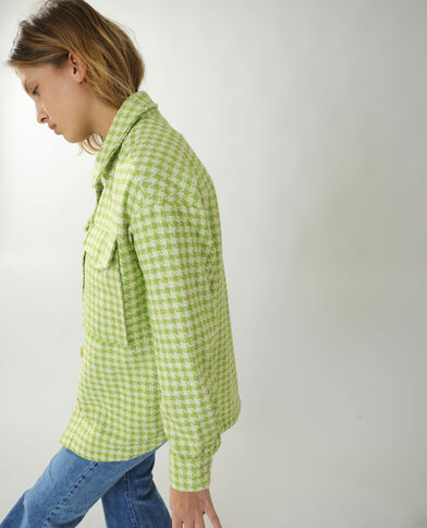Giacca camicia in tweed verde - Pimkie