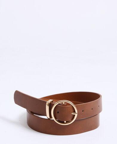 Cintura in finta pelle caramello