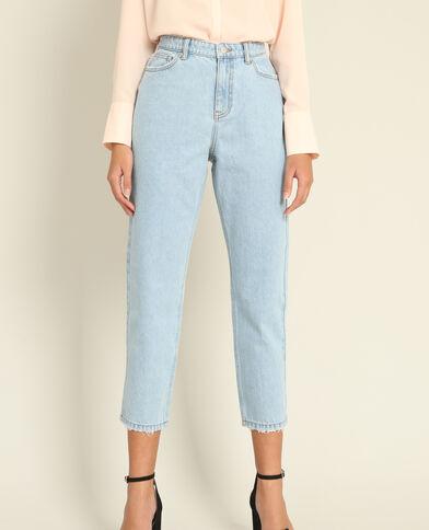 Jeans mom blu cielo