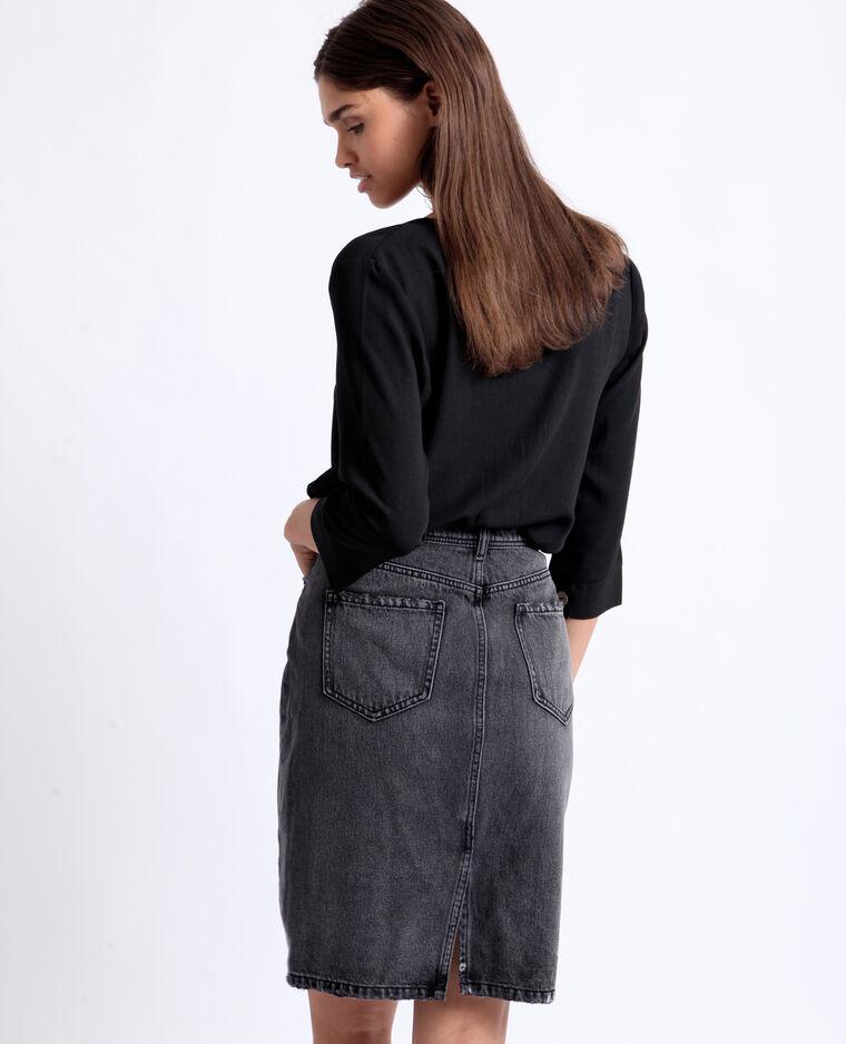 Camicia con bottoni nero