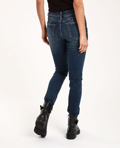 Jeans push up mid waist blu grezzo