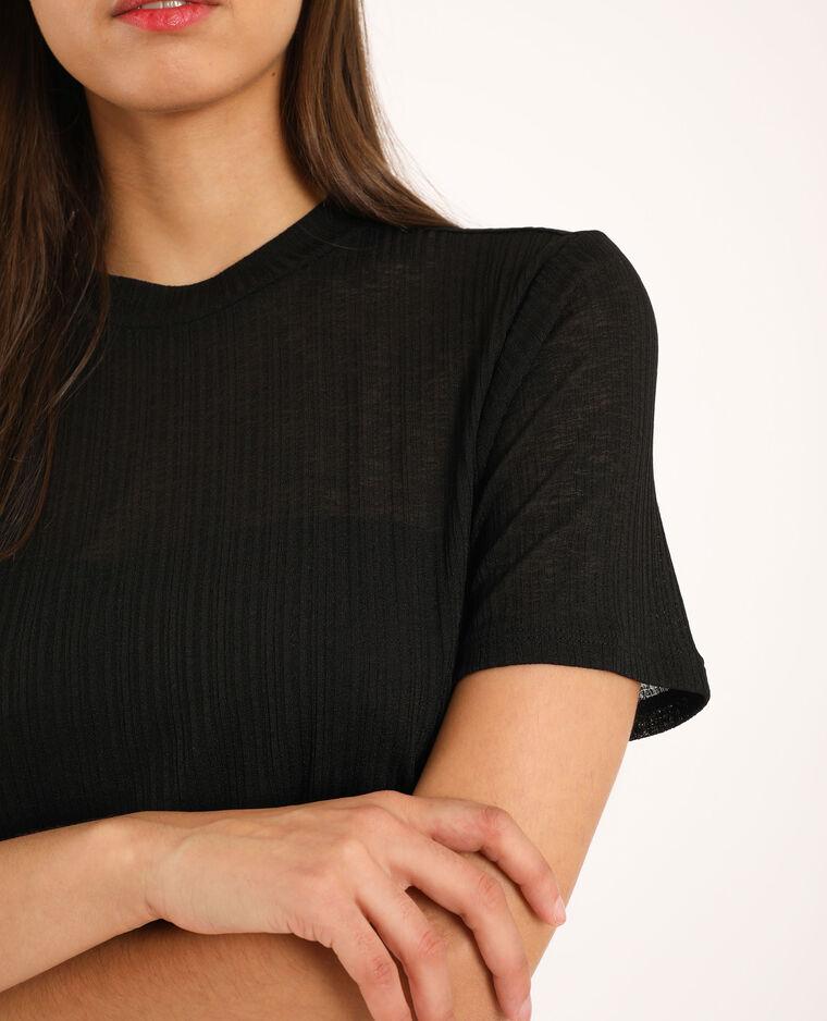 T-shirt a collo alto nero
