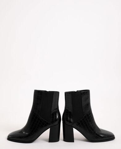 Boots effetto coccodrillo nero