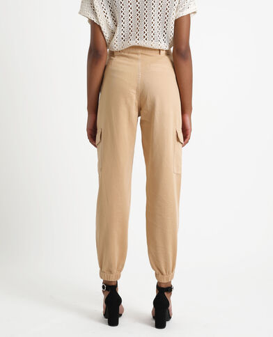 Pantalone cargo marrone