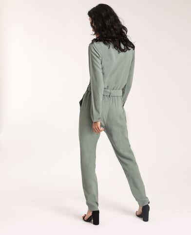 Abito pantalone con tasche verdeg